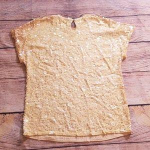 Liz Claiborne Tops - Vintage Liz Claiborne S silk sequin cream top